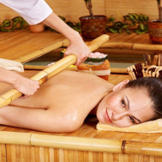 Massage aux bambous, soin du corps